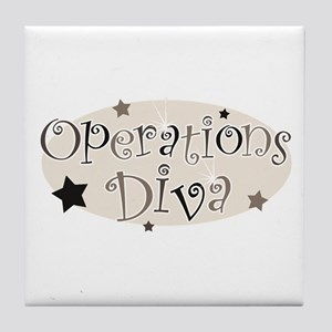 """Operations Diva"" [brown] Tile Coaster"
